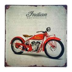 Foto Placa de Metal Decorativa Indian Motorcycle - 30 x 30 cm | Magazine Luiza.