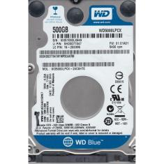 Foto HD Interno Western Digital Para Notebook Blue WD5000LPCX - 500GB, SATA III 6.0Gb/s, Cache 16MB | Intersolução*