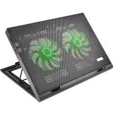 Foto Cooler para Notebook Warrior Power Gamer LED Verde Luminoso - AC267 | Carrefour-