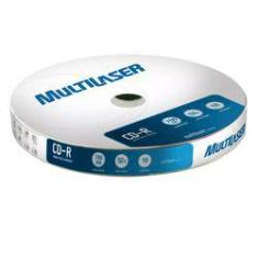 Foto CD-R 700Mb Disco 52x com 10 Mídias CD027 Multilaser | Shoptime