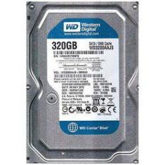 "Foto Hd Wd 320gb Sata Ii 3.0gb/s 8mb Cache 7.200rpm 3.5"" Wd3200aajs 