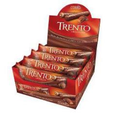 Foto Chocolate Com Wafer Trento Recheio Chocolate C/16 - Peccin | Shoptime