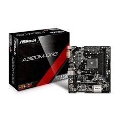 Foto Placa-Mãe ASRock p/ AMD AM4 A320M-DGS DDR4 | Kabum