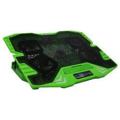 "Foto Base Gamer Para Notebook Multilaser Warrior Ac292 - Até 17"" - Com Led Verde 