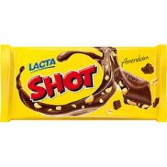 Foto Barra de Chocolate Shot Ao leite com Amendoins Lacta 155g - 1 unidade | Submarino