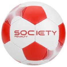 ed3f3a9e278f7 Foto Bola de Futebol Society - Player VII - Branco e Vermelho - Penalty