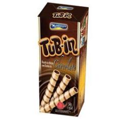 Foto Tubinho de Wafer Tub In Recheio Chocolate 48g  Montevérgine | Walmart -