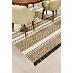 Foto Tapete Indiano Baider Stripe 3.00X4.00 Natural | Doural Presentes*