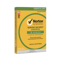 Foto Norton Security Essencial 1 dispositivo 1 ano Symantec | Kalunga