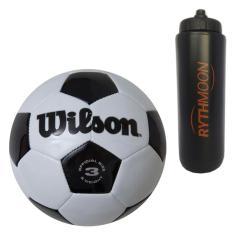 8ef34cb979 Foto kit Bola Futebol Traditional No. 3 Oficial - Wilson + Squeeze  Automático 1lt