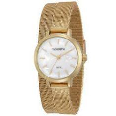 8c77a9485a8 Foto Relógio feminino mondaine dourado 2 voltas 53597LPMVDE2