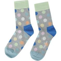 Foto Kit de Meias Happy Socks Stripe com 2 Pares - 7 a 9 Anos - Infantil - CINZA/AZUL Happy Socks | Centauro