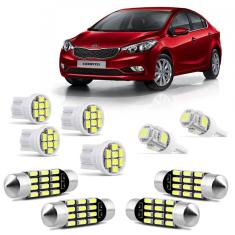 Foto Kit Lâmpadas LED Pingo e Torpedo KIA Cerato 2009 a 2012 Farolete Placa Teto e Ré | Connect Parts*