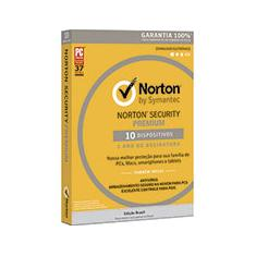 Foto Norton Security Premium 10 dispositivos 1 ano Symantec | Kalunga