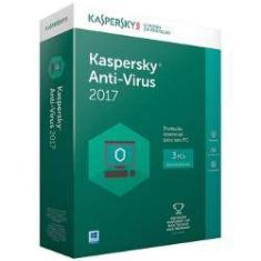 Foto Kaspertsky Anti Virus 2017 - 3 Pc | Shoptime