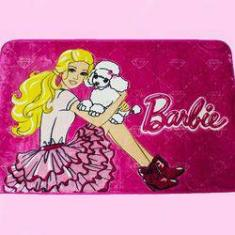 Foto Tapete 80x120 Jolitex Disney Barbie Cachorrinho Rosa  | Americanas