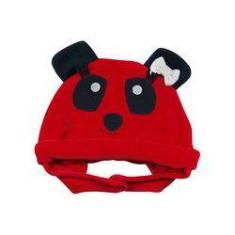 298263dcd2015 Foto Touca Bebê Plush Ursinha Panda 19204 - Vermelho