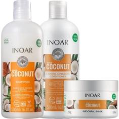 Foto Kit Shampoo + Condicionador 2x500ml + Masc Coconut Bombar 250ml Inoar | Submarino