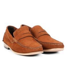 970dc1cb28 Foto Mocassim Couro Shoestock Nobuck Gravata Masculino - Masculino Caramelo