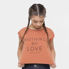 Foto Camiseta Infantil Colcci Fun Nothing but Love Feminina - Feminino | Zattini