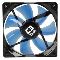 Foto Cooler Para Gabinete Gamer C3 Tech F7-L100BL 7Lam. LED Azul.