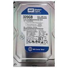 "Foto Hd Wd 320gb Sata Ii 3.0gb/s 16mb Cache 7.200rpm 3.5"" Wd3200aaks 