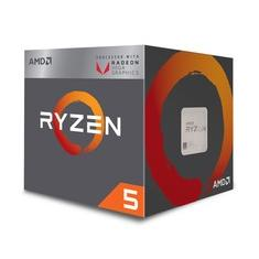 Foto Processador AMD Ryzen 5 2400G c/ Wraith Stealth Cooler, Quad Core, Cache 6MB, 3.6GHz (Max Turbo 3.9GHz), VEGA,  AM4 - YD2400C5FBBOX | Kabum