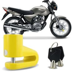 Foto Trava De Freio Disco Anti furto Para Moto Universal Amarelo | Connect Parts*