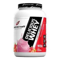 Foto Delicious Whey - 900g Milkshake De Morango - Bodyaction | Shoptime