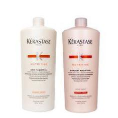 Foto Kerastase Nutritive Magistral Kit Duo Profissional Shampoo + Condicionador 1000ml | Submarino