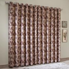 Foto Cortina Blackout Jacquard 300x250 cm Chocolate | Sultan | Carrefour-