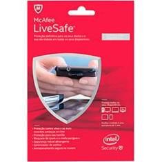 Foto Antivírus McAfee Live Safe 2015 BR Card - PC Attach | Shoptime