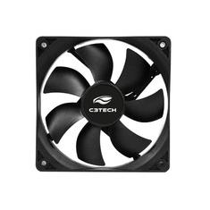 Foto Cooler FAN C3Tech Storm 8cm  Molex 4 Pinos - F7-PW10BK  | Kabum