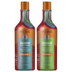 Foto Inoar Kit Shampoo e Condicionador Bombar Super Vitaminas, 1 Litro | Amazon