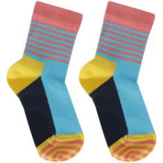 Foto Kit de Meias Happy Socks Big Dot com 2 Pares - 2 a 3 Anos - Infantil - Azul/Amarelo Happy Socks | Centauro