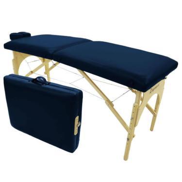 Imagem de Maca Para Massagem Dobrável Portátil Azul Noturno Ragonezi