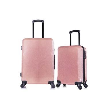"""Imagem de Conjunto Malas TSA GLITTER Tamanho P 20"""" e M 24"""" Seanite Viagem"""