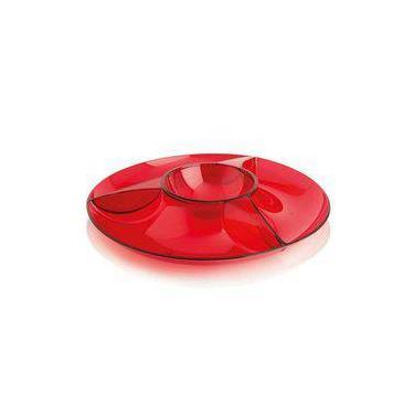 Imagem de Petisqueira Vermelha Multiuso Marca Ou 3 Divisões