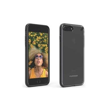 Capa Protetora PureGear Slim Shell para Apple iPhone 7 Plus / 8 Plus - Transparente / Preto