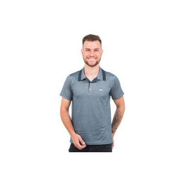 Polo Argali Casual Fit Azul Petróleo