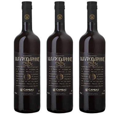 Kit 3 Vinho Tinto Grego Licoroso Doce Mavrodaphne Cambas