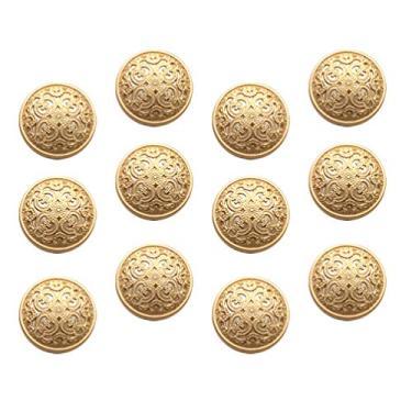 BESPORTBLE 30Pcs 20Mm Jaqueta de Botões De Metal Moda Rodada Botões Do Casaco Botões Planas Botões de Costura Artesanato DIY Acessório Dourado 2. 3Cm