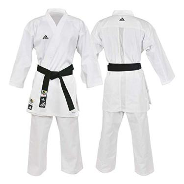 Kimono Karatê Adidas Club Branco Com Selo WKF 190