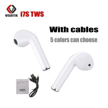 Imagem de In-ear i7 i7s tws fones de ouvido sem fio bluetooth fone de ouvido fone de ouvido com microfone para
