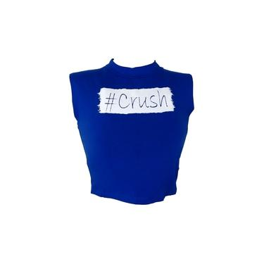 Cropped Top Blusinha Regata Viscolycra Frases CRUSH