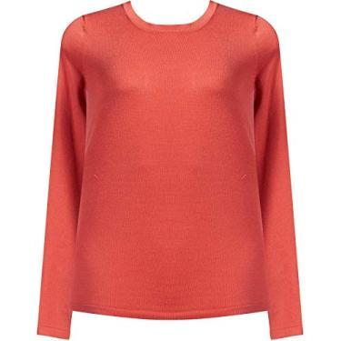Suéter Básico em Tricô Fio 7 Decote Redondo Seiki 830316-GG-Bronze
