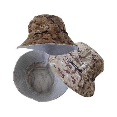 Boné Bucket Chapéu Balde Camuflado Digital Forrado Street