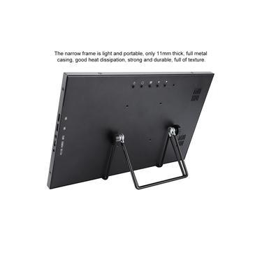 Monitor de jogo de 13,3 polegadas, tela Full HD IPS 1080P portátil de 13,3 polegadas, ultrafino para PS4 da série Raspberry Pi
