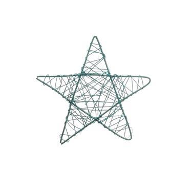 Estrela Decoração Natal 35Cm Azul