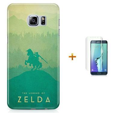 Kit Capa Case TPU Galaxy S6 The Legend Of Zelda ? Breath of The Wild + Pel Vidro (BD30)